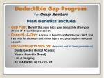 deductible gap program