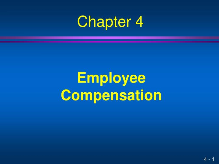 employee compensation n.