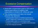 excessive compensation