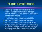 foreign earned income