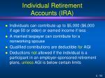 individual retirement accounts ira