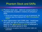 phantom stock and sars