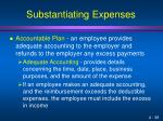 substantiating expenses