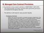 iii managed care contract provisions7