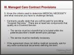 iii managed care contract provisions8