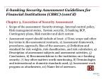 e banking security assessment guidelines for financial institutions cbrc cont d