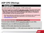 adp cpe offerings