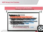 adp group live courses