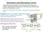 generators and alternating current