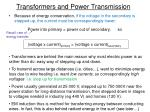 transformers and power transmission