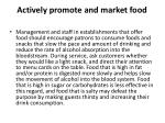 actively promote and market food