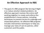 an effective approach to rbs