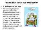 factors that influence intoxication4