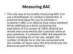 measuring bac