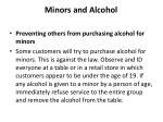 minors and alcohol