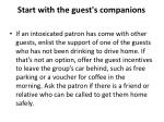 start with the guest s companions