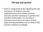 the law and alcohol