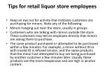 tips for retail liquor store employees