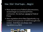 how did startups begin
