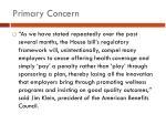 primary concern