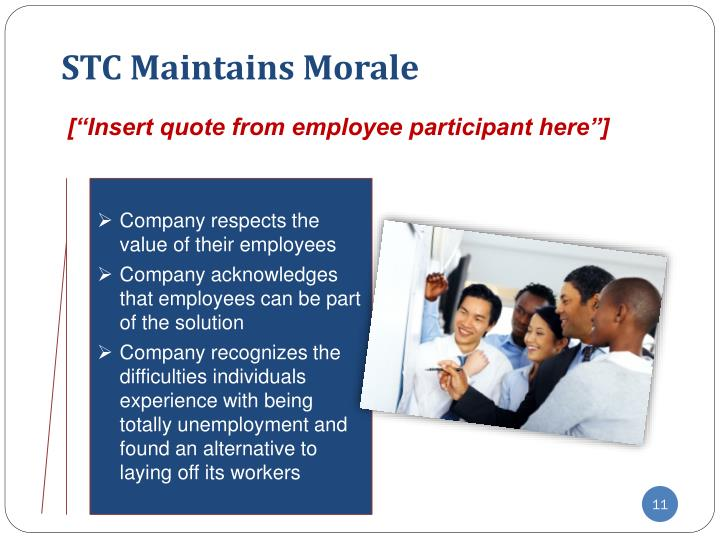 STC Maintains Morale
