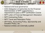 back to basics npp accountability framework