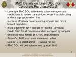 bmo details on line dol for corporate purchase card