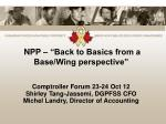 npp back to basics from a base wing perspective