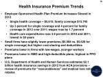 health insurance premium trends