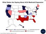 what states are saying about aca medicaid expansion