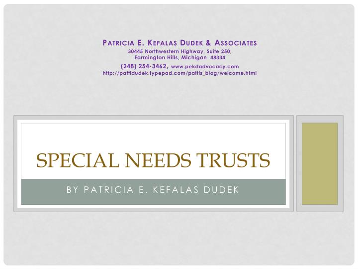 special needs trusts n.