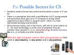 pa possible sectors for cs