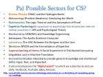 pa possible sectors for cs1