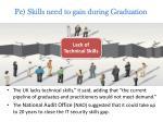 pe skills need to gain during graduation