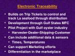 electronic traceability