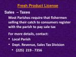 fresh product license10