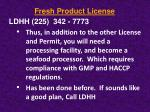 fresh product license6