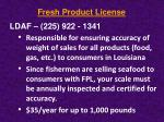 fresh product license8