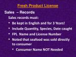 fresh product license9