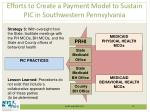 efforts to create a payment model to sustain pic in southwestern pennsylvania2