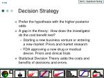 decision strategy
