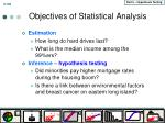 objectives of statistical analysis