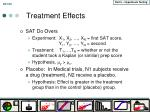 treatment effects