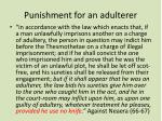 punishment for an adulterer