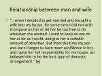 relationship between man and wife