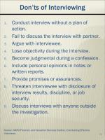 don ts of interviewing