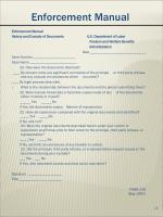 enforcement manual