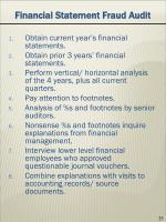 financial statement fraud audit