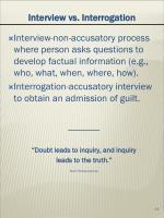 interview vs interrogation