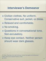 interviewer s demeanor